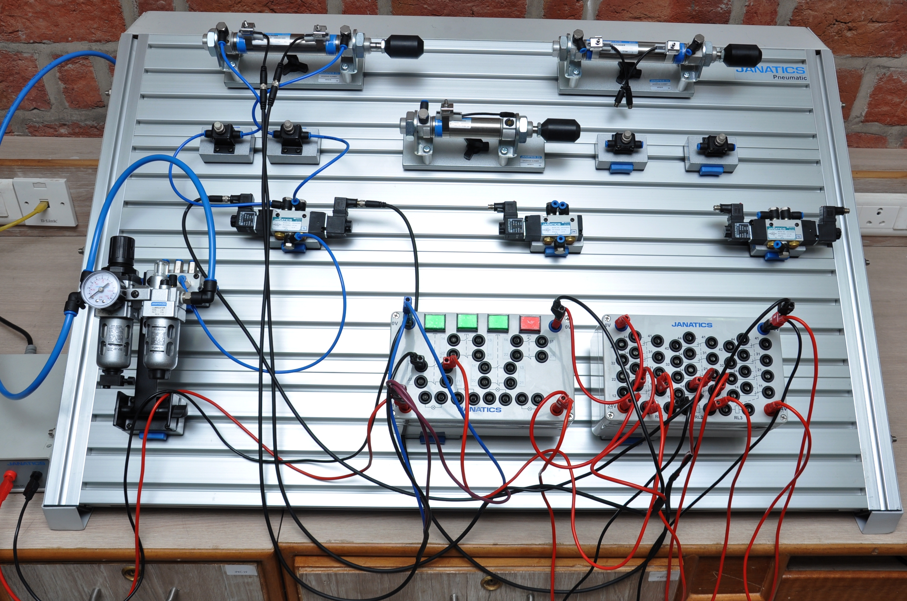 Facilities Electrical Control Wiring Training Electropneumatic Kit Inclined